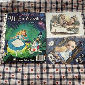 【洋書】ALICE in Wonderland 不思議の国のアリス レトロ絵本&ポストカード セット