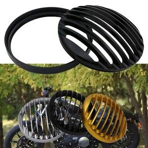 5.75 5 3/4 CNC LEDヘッドライトグリルカバーハーレーダビッドソンスポーツスターXL 883鉄1200 04-14カスタムXL1200C 1200バイク