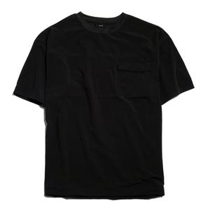 【新品】ワイドサイズ プルオーバーTシャツ ナイロン エアリー■ Lサイズ / ブラック黒③ ■撥水&超軽量 ストレッチ NT116-6203