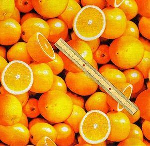ウィンダム オレンジ柄 生地