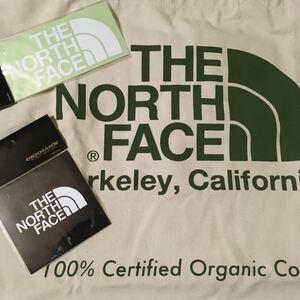 THE NORTH FACE オーガニックコットン トートバッグ &ステッカー 2枚セット ザ・ノース・フェイス グリーン