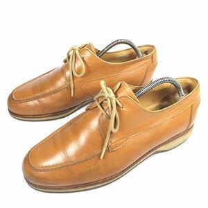 【バーバリー】本物 BURBERRY 靴 25cm 茶 Uチップ カジュアルシューズ スニーカー ビジネスシューズ 本革 レザー 男性用 メンズ 25