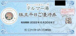 エコナック 株主優待券 テルマー湯株主平日ご優待券 1枚 有効期限:2022年6月30日 普通郵便・ミニレター対応可