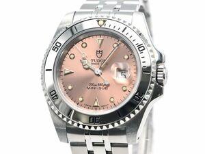 [3年保証] チューダー チュードル ボーイズ プリンスデイト サブマリーナー 73190 B番 OH済 ピンク文字盤 自動巻き 腕時計 中古 送料無料