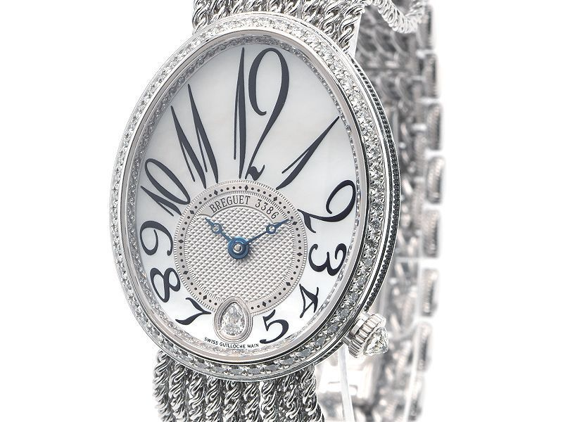[3-year warranty] Breguet Ladies Queen of Naples 8918BB / 58 / J39 D00D K18WG Diamond Shell Dial Automatic Watch Used Free Shipping Brand Watch & Ha Line & Breguet