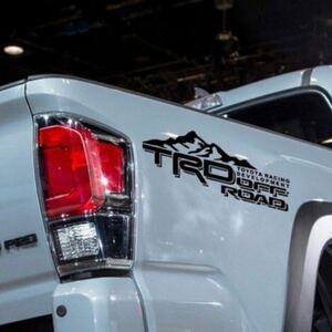 TRD オフロード カッティングステッカー 30cm 左右セット 色変更OK! 4WD FJクルーザー ハイラックス タンドラ ランクル タコマ プラド