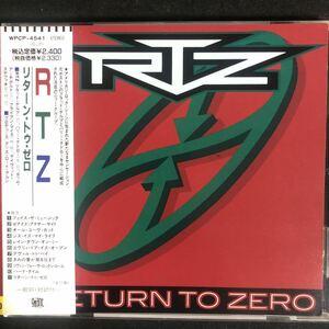 帯付き!国内盤!RTZ/ Return To Zero/ リターン・トゥ・ゼロ
