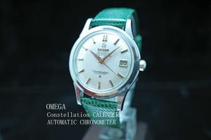 オメガ OMEGA コンステレーション Constellation CALENDER アンティーク1959年製 自動巻 SS レザー メンズ 動作良好極美品 本物 価格高騰中