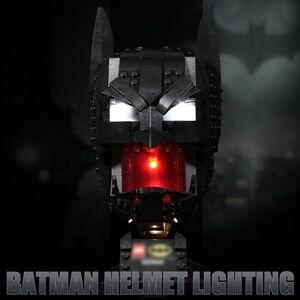 激レア!! MOC ブロック スーパー・ヒーローズ 76182 互換 バットマン マスク LEDライト 照明 キット カスタム パーツ DL162