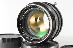 ミノルタ Minolta AUTO ROKKOR PF 58mm f1.4 MF #1674 【付属品多数】