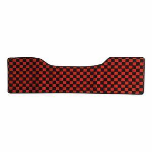 デュトロ ダイナ トヨエース 平成11年5月- 標準 ダブルキャブ フロアマット リア レッド x ブラック チェック 赤x黒 PA-TFM22-RD