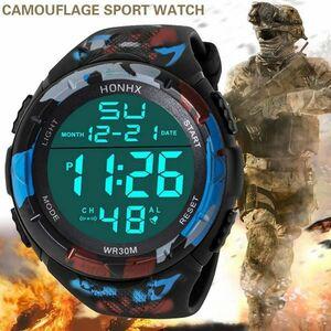 CAL053:男性 アナログ LED デジタル ミリタリー アーミー スポーツ 屋外 防水 腕時計 機械式 スポーツウォッチ