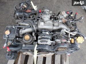 動画有!! 保証付 スバル純正 E-GC8 インプレッサ EJ20 ターボ C型 MT マニュアル エンジン本体 タービン付き 即納