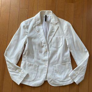 ドレステリア テーラードジャケット レディース 白 コットン リネン 美品 サマージャケット