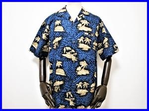 即決! 美品 ハワイ製 ロイヤルハワイアン アロハシャツ メンズL ロイヤルクリエーションズ Royal Creations