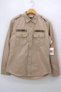 アヴィレックス AVIREX U.S.ARMY ミリタリーシャツ メンズ L 中古 古着 210609