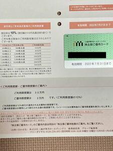 株主優待カード 三越伊勢丹ホールディングス 男性名義 利用限度額30万円