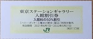 【2枚まで】東京ステーションギャラリー 入館割引券