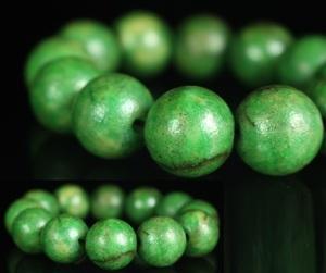 【最上】本翡翠 翡翠 翡翠玉 最高品質 数珠 12玉 仏具  根付 官領 4897