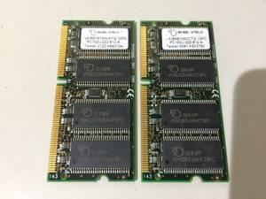 secondhand goods MOSEL VITELIC DIMM PC100-64M 128MB(64M*2) present condition goods ②