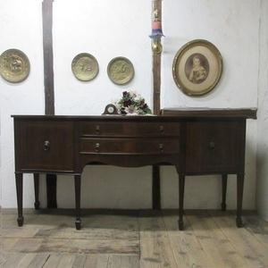 イギリス アンティーク 家具 サイドボード キャビネット 食器棚 飾り棚 収納 木製 マホガニー 英国 SIDEBOARD 6924b