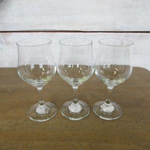 イギリス キッチン雑貨 ワイングラス グラス 3客 飾り キャビネットのディスプレイに インテリア雑貨 英国 glass 1660sa