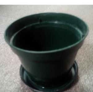 超使いやすい家庭菜園 観葉植物 盆栽用「鉢ポット&受け皿セット」割れないプラスチック製 非売品