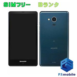 【良品中古】 SIMフリー SH-RM02 SHARP AQUOS ネイビー アクオス 純正SIMフリー 313454