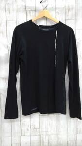 T625-169☆ヨウジ ヤマモト ロングTシャツ ブラック