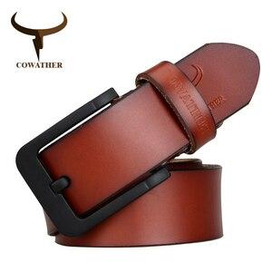メンズベルト COWATHER 海外ブランド 高級 レザー 本革 牛革 ヴィンテージ 選べる3色 ビジネス ブラックバックル (SK)