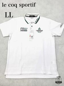 ルコック le coq ゴルフ 正規品 新品未使用 鹿の子 半袖ポロシャツ 【LL、XL】GOLF 吸汗速乾 ドライ ホワイト 白