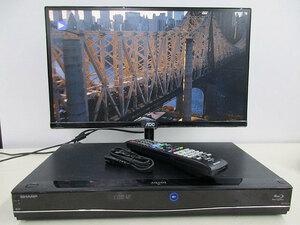送料無料 離島除く 即決 SHARP ブルーレイディスクレコーダー AQUOS BD-S570  地上デジチューナー内蔵 純正リモコン付 3D対応機