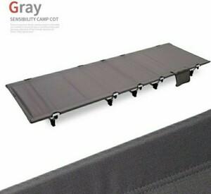 【グレー】コット 簡易ベッド アウトドアベッド 軽量 コンパクト