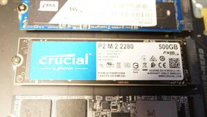 Crucial SSD P2シリーズ 500GB M.2 NVMe接続 CT500P2SSD8