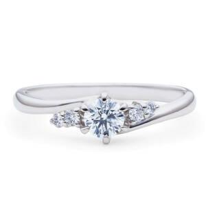 【最高の輝き】プラチナ pt900 輝きが違う!0.435ct F-SI2-Excellent 極上 ダイヤモンド リング 指輪【中宝鑑付き】