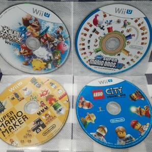 WiiU送料無料☆大乱闘スマッシュブラザーズ+ニュー・スーパーマリオブラザーズ・U+スーパーマリオメーカー+レゴシティ 4枚セット