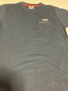 76lubricants●76 ルブリカンツ 半袖 ポケット付きTシャツ◎ Lサイズ◎ネイビー◎長期保管・デッドストック品・未使用品◆タグ付き