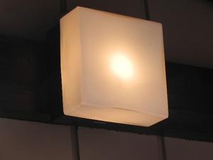 <ポーチライトNational角形玄関灯廃盤USED美品ホワイトガラス本体アルミ>