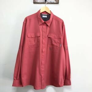 コロンビア アウトドア フィッシングシャツ 長袖シャツ 刺繍シャツ トレッキング ワークシャツ メンズL Columbia USA アメリカ古着
