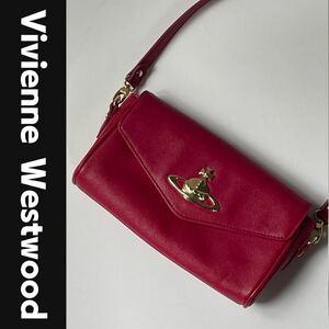 Vivienne Westwood ショルダーバッグ オーブ レザー ピンク ヴィヴィアンウエストウッド