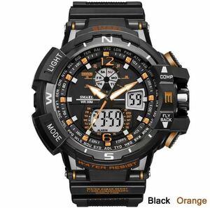 ◆最安最安 1円 Smael ウォッチ 腕時計 メンズ デジタル スポーツ 防水時計 クロノグラフ クォーツ 電子 軍事腕時計 男性 ledデジタル 1757