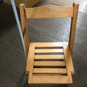 折り畳み式 木製チェアー