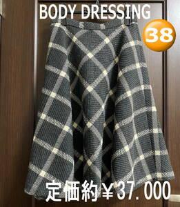 《説明文必読》▲超美品▲【BODY DRESSING】フレアスカート サイス38