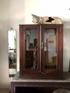 アンティーク 木製 陳列棚 飾り棚 古家具 古道具 ヴィンテージ レトロ ディスプレイ 店舗什器 時代 収納 大正時代 インテリア 棚