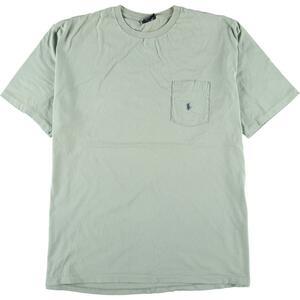 90年代 ラルフローレン POLO by Ralph Lauren 半袖 ワンポイントロゴポケットTシャツ USA製 メンズXL ヴィンテージ /eaa168347