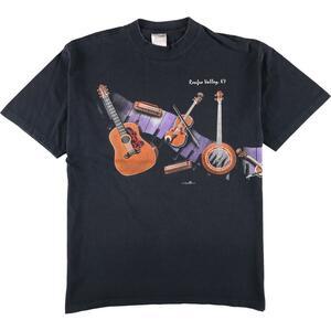 90年代 HAZELWOODS プリントTシャツ USA製 メンズL ヴィンテージ /eaa168768