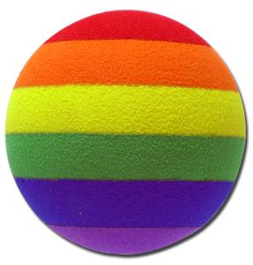 レインボー 9mm 穴 アンテナボール アンテナトッパー 車 目印 飾り カスタム USA 虹 rainbow 七色 カラフル アメ車 グッズ 定形外