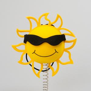 サンシャイン サングラス アンテナボール アンテナトッパー 太陽 おひさま カスタム 車 目印 USA アメ雑 【メール便OK】
