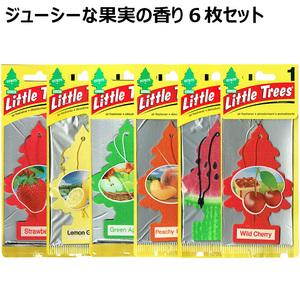 【メール便 送料無料】 リトルツリー エアフレッシュナー フルーツの香り 6枚セット Little Trees 芳香剤 車 部屋 吊り下げ USA