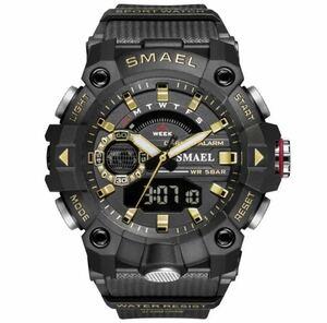 ◆ ミリタリー ウォッチ メンズ スポーツ 防水 腕時計 ストップウォッチ アラーム ledライト デジタル腕時計 メンズスポーツ時計 1738